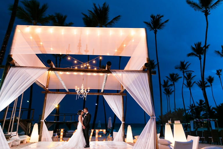 Punta Cana Beach Wedding | Jellyfish Restaurant Wedding Punta Cana Photographer Julia Eskin